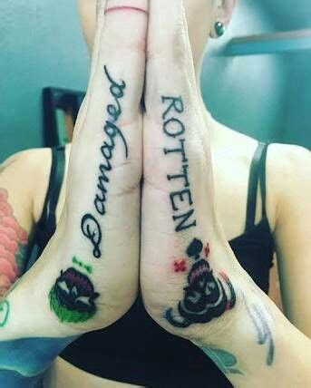 joker tattoo damaged 25 best ideas about couples tattoo designs on pinterest