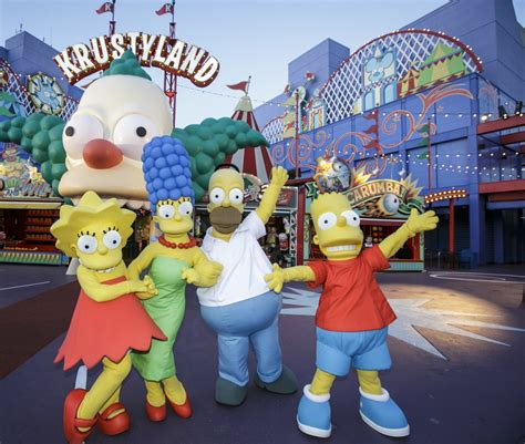 theme park owned by a television clown on the simpsons springfield simpsons themed land opens at universal
