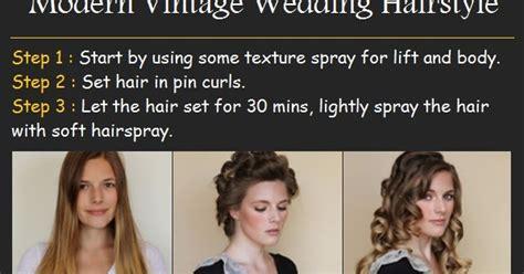 Modern Vintage Wedding Hairstyles by Modern Vintage Wedding Hairstyle Tutorials