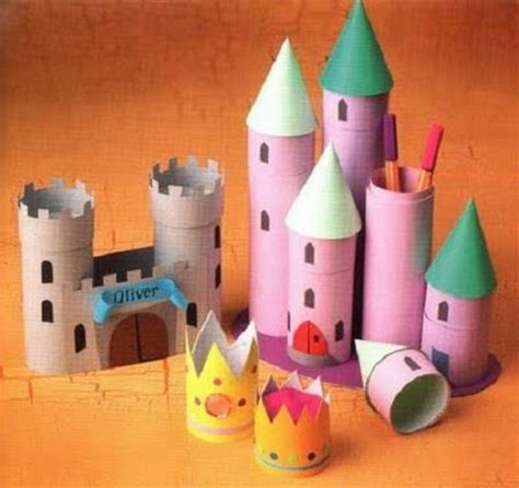 Toilet Paper Roll Castle Craft - paper roll castles crafts