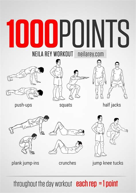 100 points throught the day workout works chest