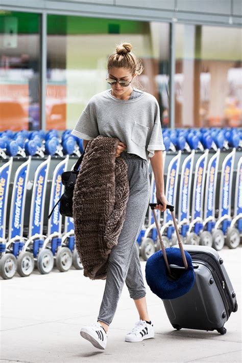 gigi hadid in joggers the pieces gigi hadid kendall jenner and more wear
