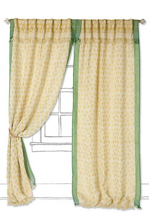 tunnel tab curtains summer spotted curtain anthropologie com