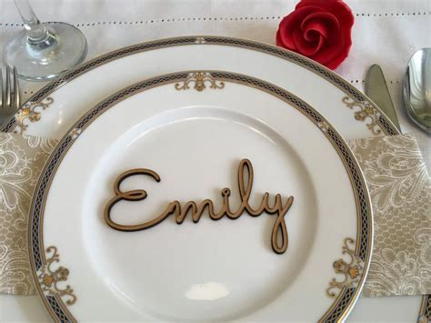 Wood Place Card Names, Event Place Decoration, Wedding