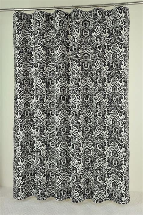 extra long black shower curtain 72 x 84 long black damask shower curtain extra long