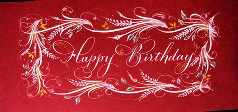 trish taylor calligraphy christmas birthday