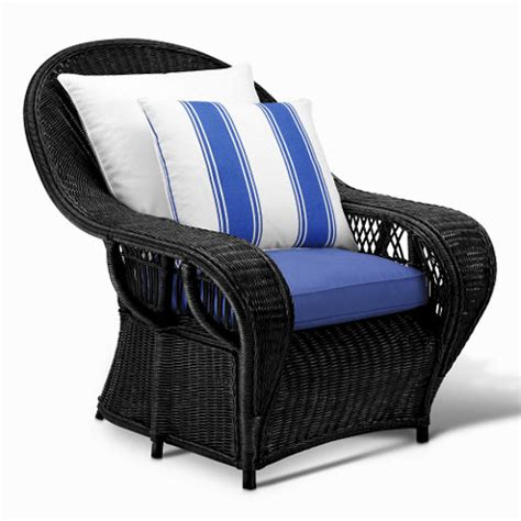 Conservatory Garden Wicker Lounge Chair Black Wicker Black Wicker Ottoman