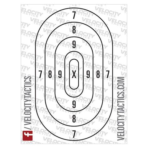 printable paper handgun targets printable paper shooting targets by velocity tactics