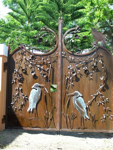 wrought iron privacy gates www imgkid the image