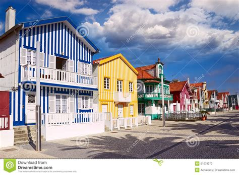 houses to buy in portugal houses in costa nova aveiro portugal stock photo image 51078270