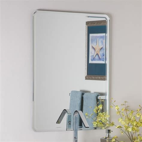 bathroom mirrors frameless shop decor wonderland samson 23 6 in x 31 5 in rectangular