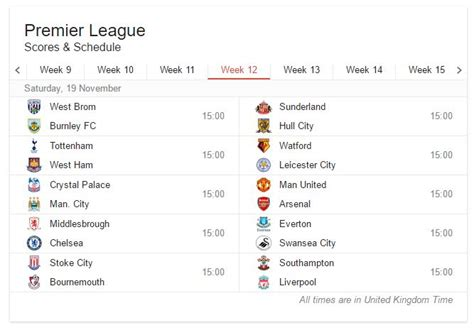 epl week 19 football match schedules 2016 17 187 expert motorised