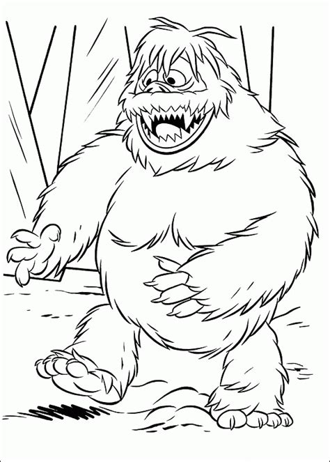 how to draw the rudolph abominable snowman rudolph coloring pages coloringpagesabc