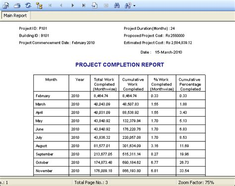 completed project report sle site a database management software for resource