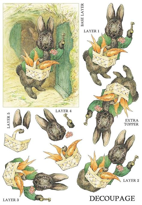 Beatrix Potter Decoupage - 17 best images about paper items page 3 on