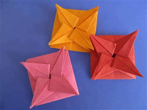 Square Origami Envelope - how to make a square origami envelope that closes with a