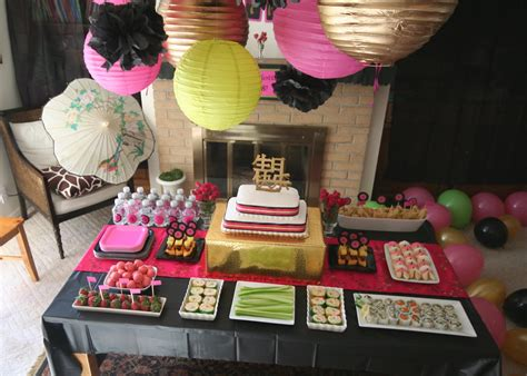 asian themed decorations themed birthday design dazzle