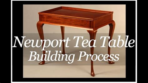 Handmade Furniture Makers - newport tea table building process handmade by doucette
