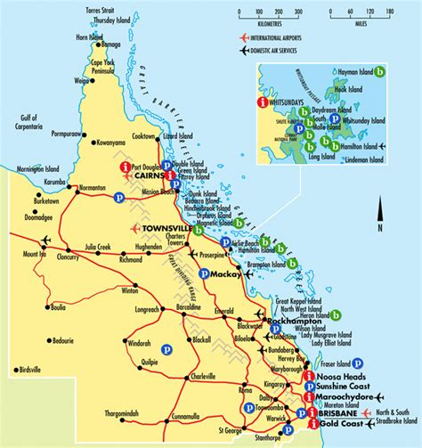 map of australia east coast detailed queensland tourist map coast australia
