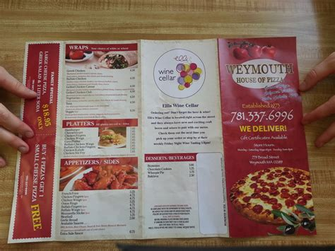 weymouth house of pizza menu2 yelp