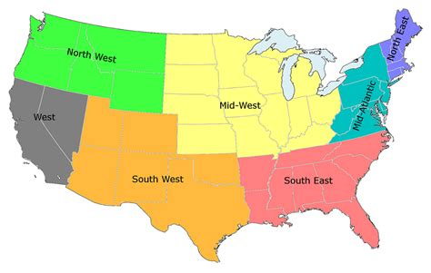 map usa regions opinions on list of regions of the united states