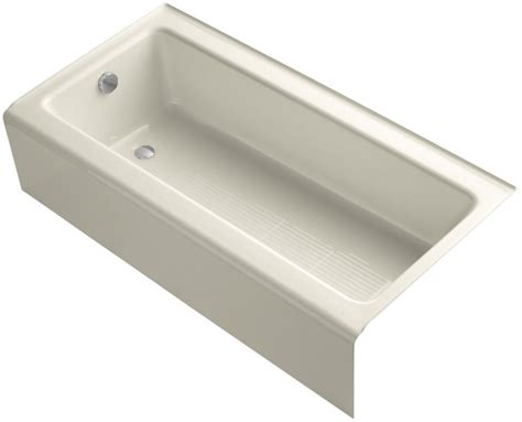 bellwether bathtub kohler k 837 47 almond bellwether 60 quot alcove soaking tub