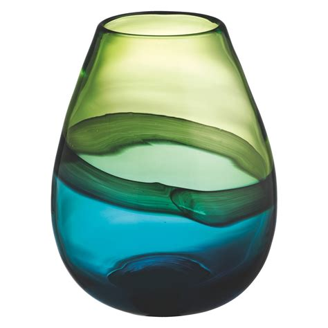 glass vase cielo blue and green glass vase buy now at habitat uk
