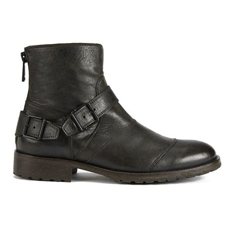 mens black boots with buckles belstaff s trialmaster buckle leather boots
