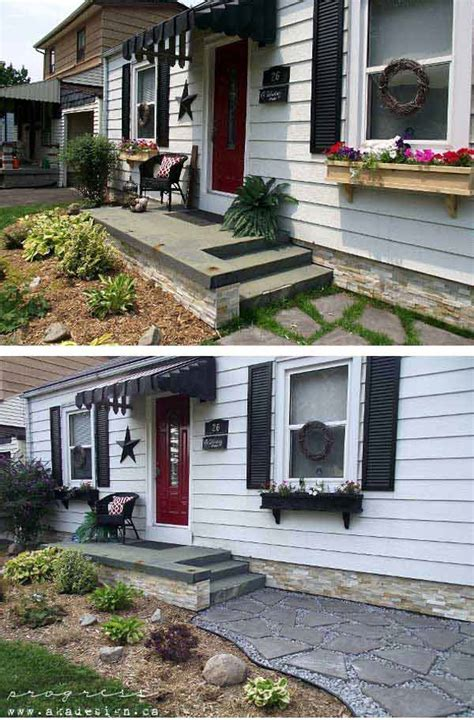 before and after curb appeal 20 easy and cheap diy ways to enhance the curb appeal
