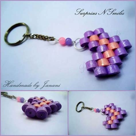 paper quilling keychain tutorial pinterest the world s catalog of ideas