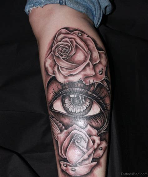 rose with eye tattoo 31 eye tattoos on leg