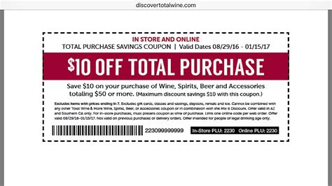 10 off 50 unlimited use coupon at total wine stores in
