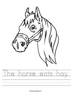 horse eats hay worksheet twisty noodle
