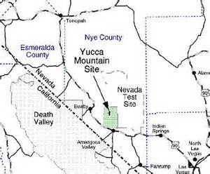 yucca arizona map nrc location of yucca mountain