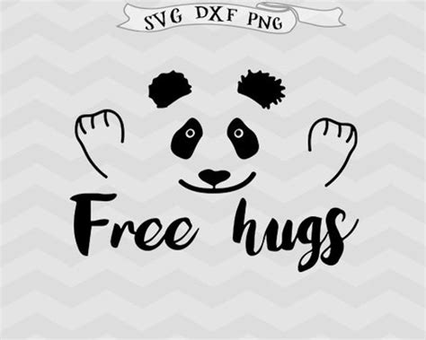 Free Hugs Panda free hugs svg svg panda svg svg baby svg design