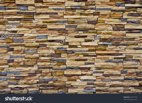 modern rough brick texture wall stock photo