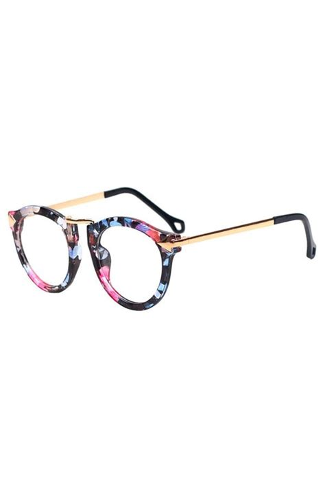 floral frame glasses style never lies