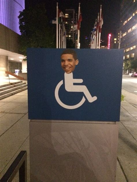 Drake Meme Wheelchair - drake face on handicap wheelchair signs in toronto for