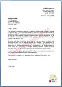 New Cover Letter by Graduate Cover Letter Sle