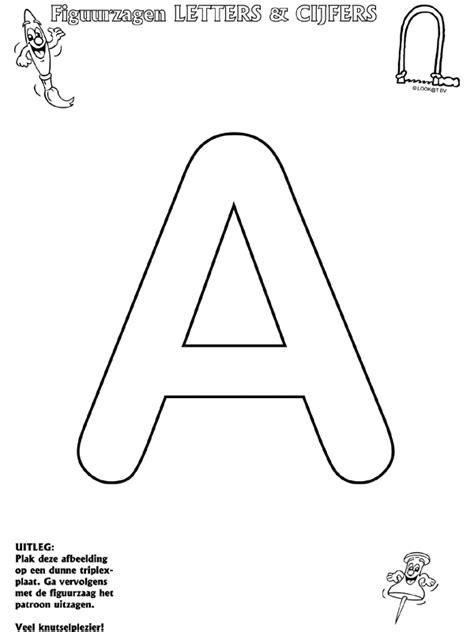 letter a figuurzagen knutselpagina nl knutselen