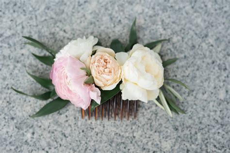 Wedding Hair Flower Real Or by Pretty Summer Coral Blush Wedding Flowers Utah