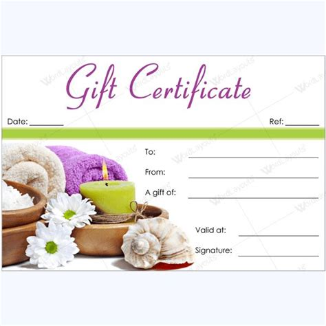 salon gift certificate template free 27 best spa salon gift certificates