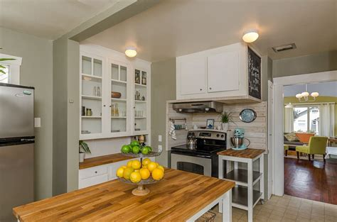 cottage kitchen with subway tile wood counters in tacoma wa zillow digs