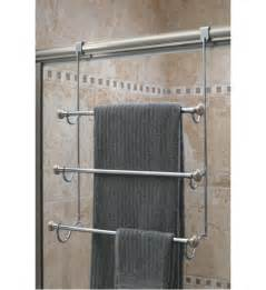 shower door holder interdesign the door towel rack in the door