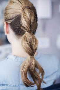 Easy and cute hairstyles for lazy girls bubble ponytail