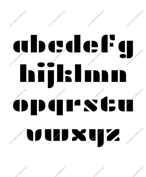 decorative display letters display decorative uppercase lowercase letter stencils a