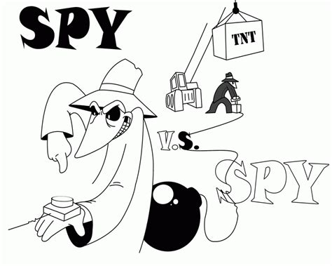 spy vs spy coloring pages coloring home