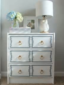 Adding brass pulls and painting storage furniture item in pastel blue