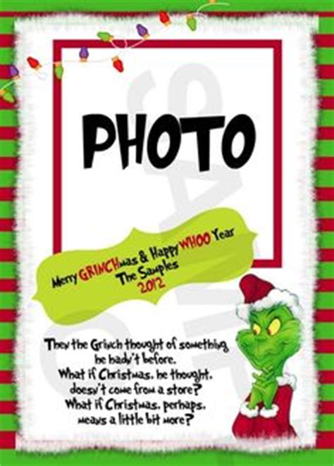 Grinch Card Template by Grinch On Grinch Dr Seuss And