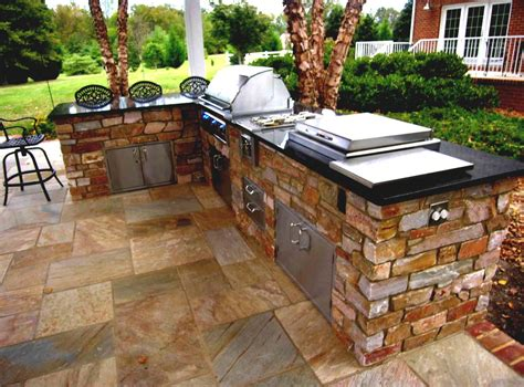 Modern Home Outdoor Bar With Great Outside Living Backyard Grill Bar